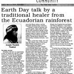 Earth Day talk